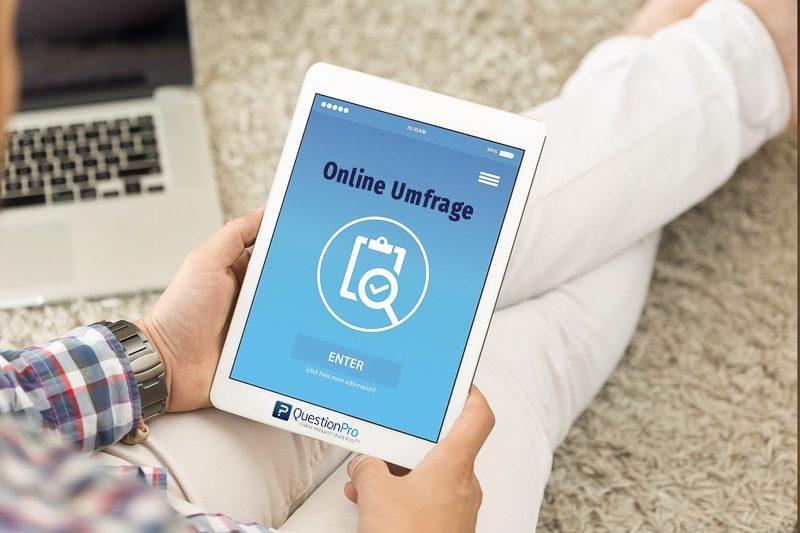 Online Umfrage erstellen mit der Umfrage App von QuestionPro