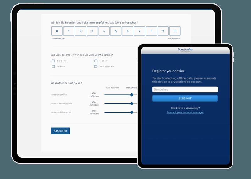 Enquêtes en ligne et hors ligne, études de marché et collecte de données hors ligne via l'application QuestionPro Survey App