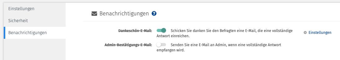 Dankes Mail schreiben nach Online Umfrage