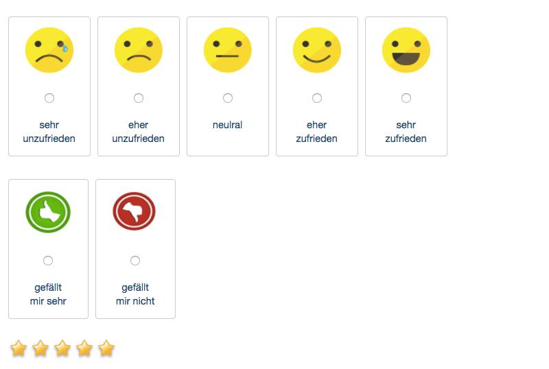 Erstellen Sie einfach eine Umfrage mit Smileys