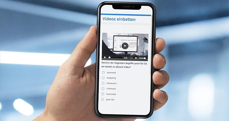 Videos einbetten in Online Umfragen