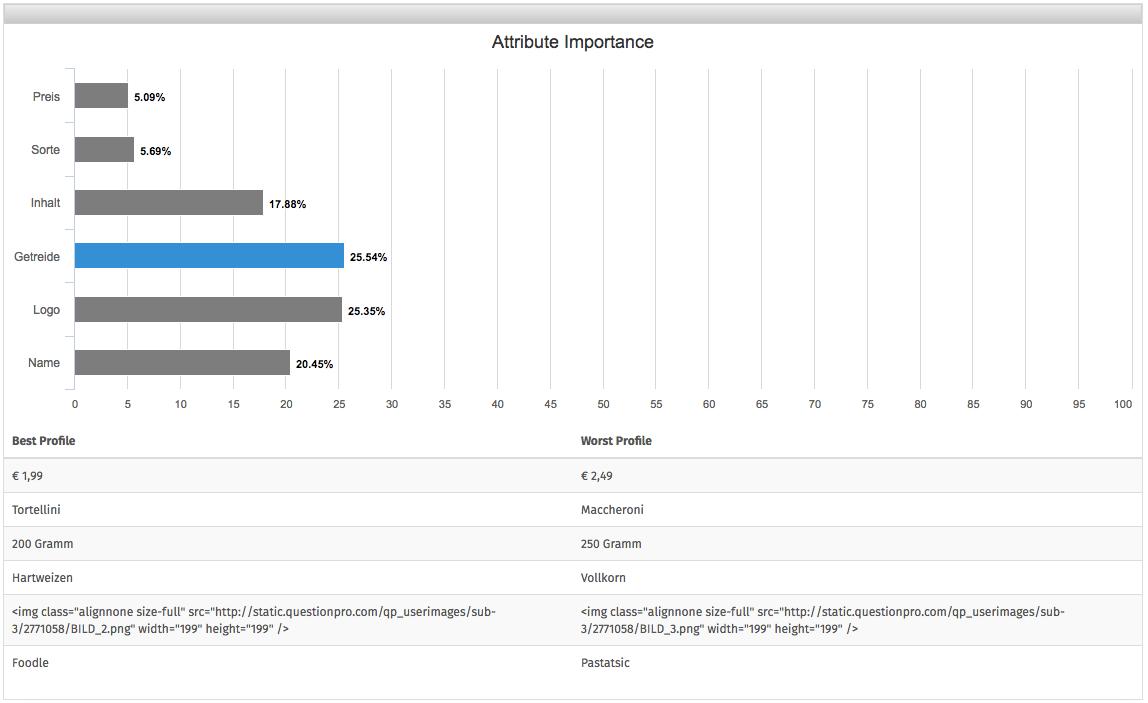Conjoint Analyse online erstellen und durchfuehren Auswertung