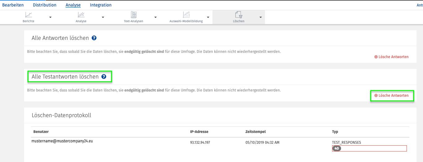 Testdaten generieren Daten loeschen 2