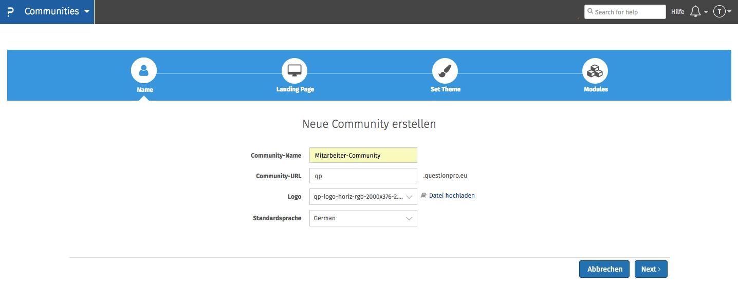 Mitarbeiter-Community einrichten