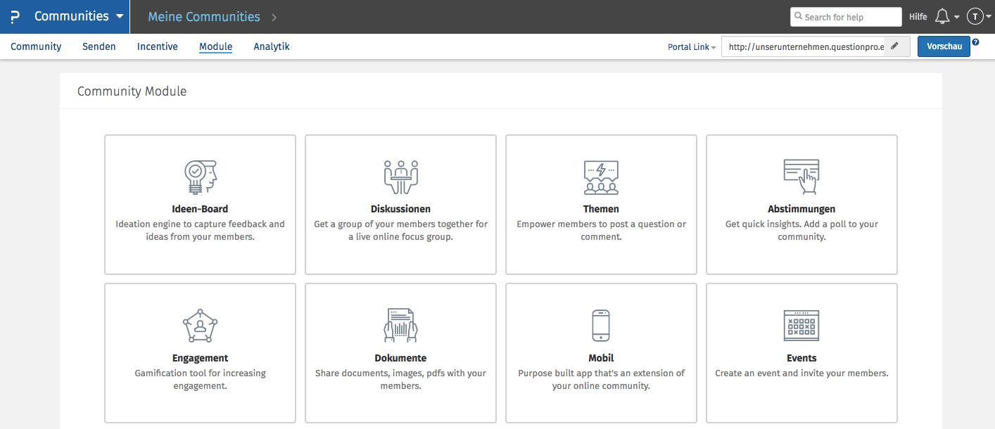 Mitarbeiter-Community Funktionen