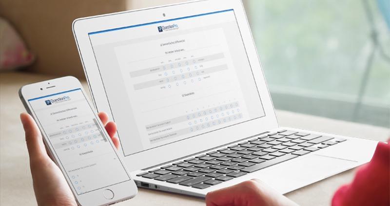 Semantisches Differenzial erstellen mit Marktforschung Tools von QuestionPro
