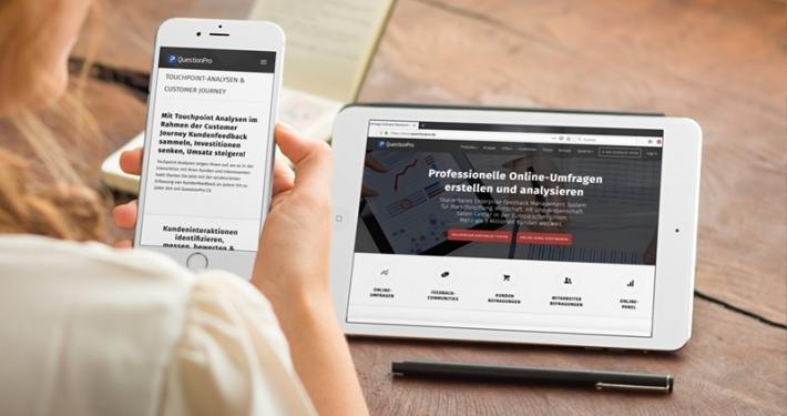 Umfrage- Marktforschungs- und Experience Management Plattform QuestionPro
