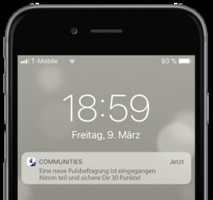 Mitarbeiter Community App Push Nachrichten
