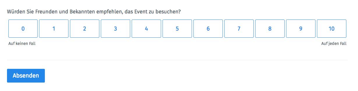 Event-NPS bei Eventbefragungen