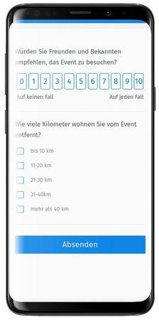Vorteile der mobilen Eventbefragung und Veranstaltungsbewertung