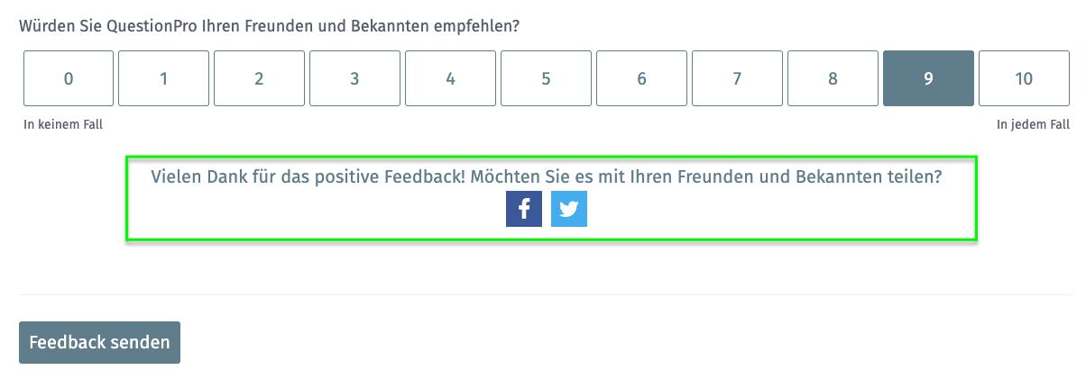 Feedback Promotion via une enquête auprès des clients et Net Promoter Score