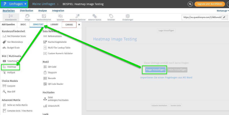 Heatmap Image Testing - Bildtest durchführen