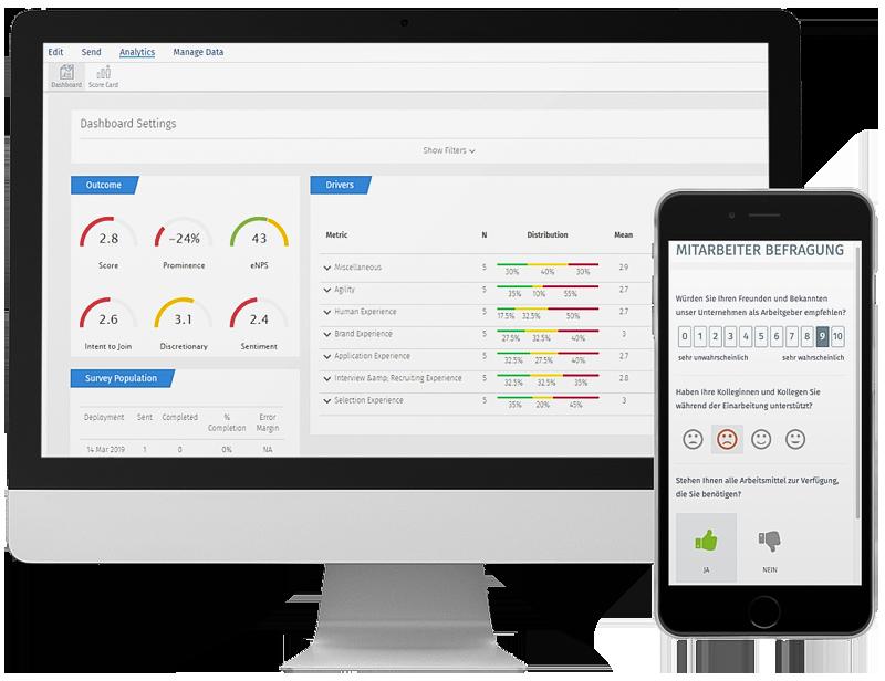 Développé pour les Services RH et les Managers exigeants, la plateforme de feedback et de gestion RH intelligente et innovante de QuestionPro est l'outil qu'il vous faut pour piloter l'Expérience Employé.