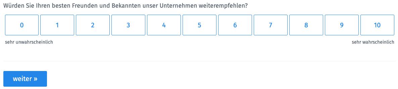 Net Promoter Score Umfrage durchführen mit QuestionPro