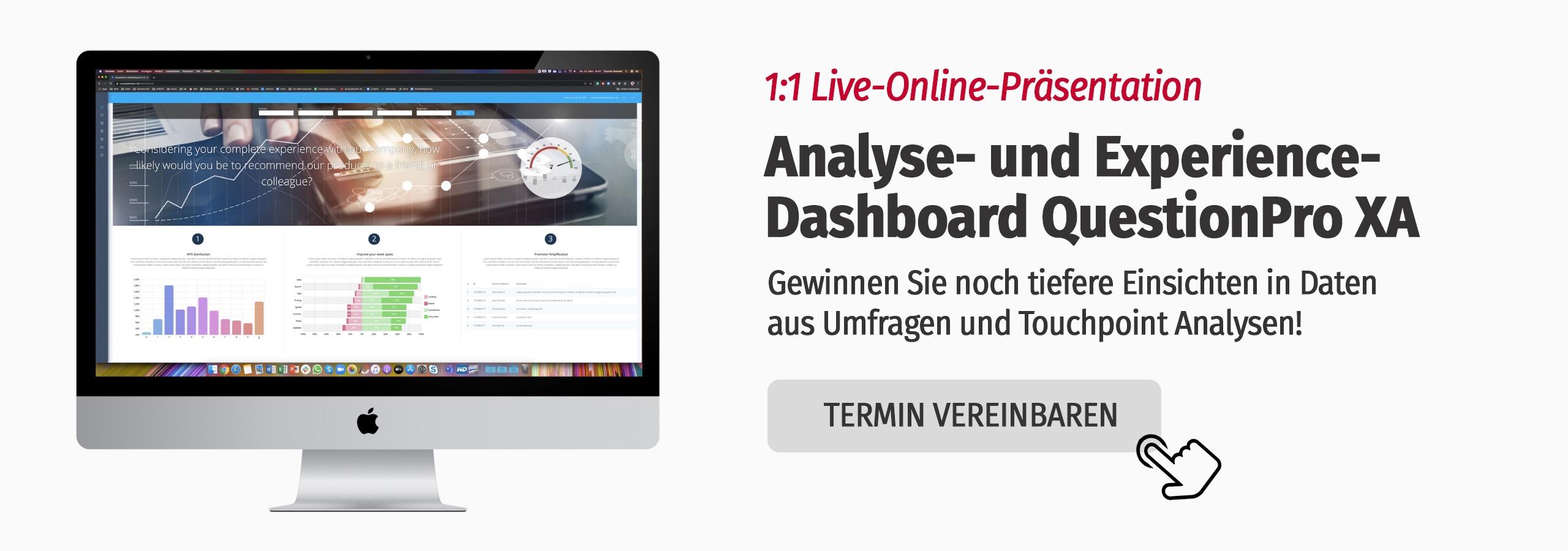 Analyse und Experience Dashboard für das e-Commerce