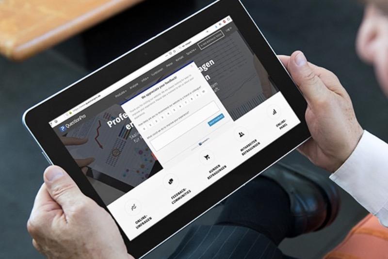 Exemple de réussite concernant la réalisation d'enquêtes d'interception en ligne avec QuestionPro