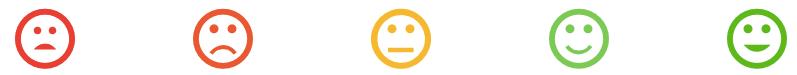 CSAT L'option de réponse via des symboles