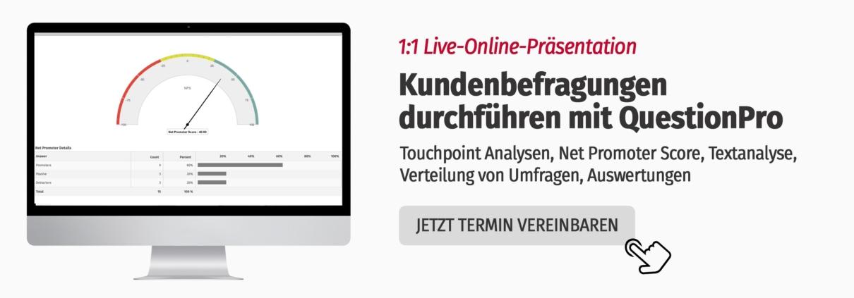 Kundenfeedback gewinnen und auswerten mittels Touchpoint Analysen und Software von QuestionPro