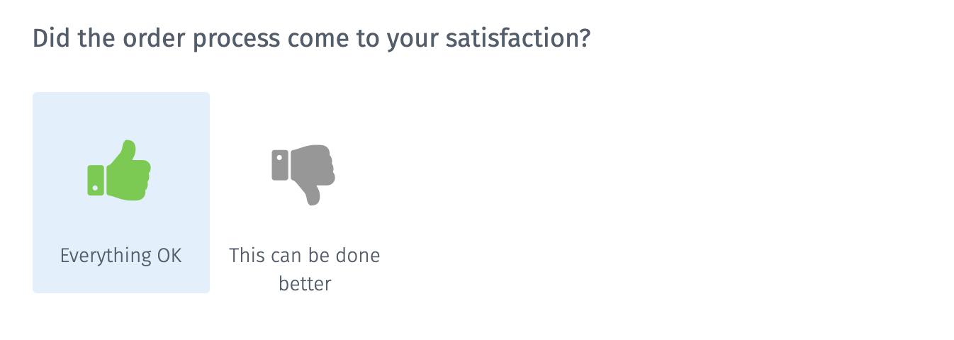 CES l'option de réponse Like / Dislike.
