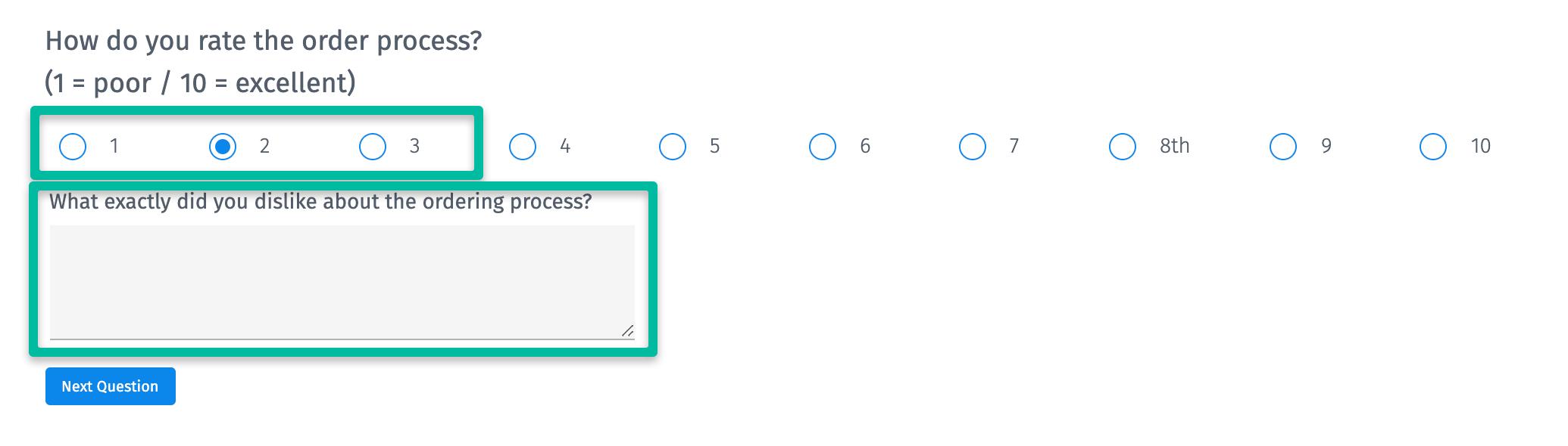 Question sur le score d'effort du client