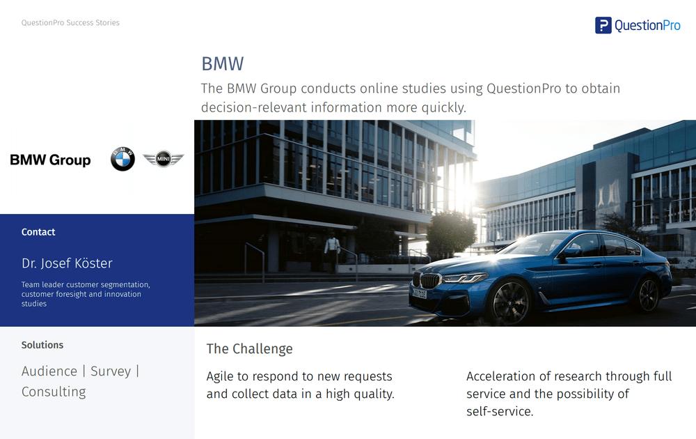BMW Study Market research